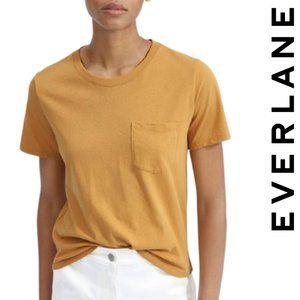 Everlane Cropped Mustard Yellow Tee